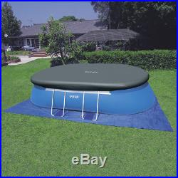 Intex 18' x 10' x 42 Oval Frame Inflatable Swimming Pool Set with Pump & Ladder