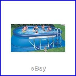 Intex 18' x 10' x 42 Oval Frame Swimming Pool with1000 GPH Filter Pump Open Box