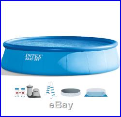 Intex 18 x 48 Easy Set Above Ground Round Swimming Pool Filter Pump Ladder Cover