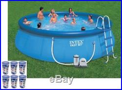 Intex 18' x 48 Easy Set Swimming Pool Kit with 1500 GPH GFCI Filter Pump, 26175EH
