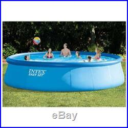 Intex 18' x 48 Inflatable Easy Set Above Ground Pool with Ladder & Pump (Used)