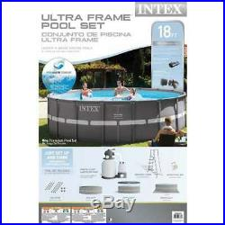 Intex 18' x 52 Ultra Frame Above Ground Pool with Sand Filter Pump (Open Box)