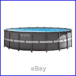 Intex 18' x 52 Ultra Frame Above Ground Swimming Pool Set with Sand Filter Pump