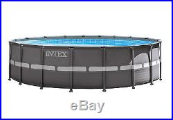 Intex 18' x 52 Ultra Frame Swimming Pool Set with Sand Pump & Saltwater Combo