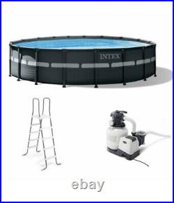 Intex 18 x 52 Ultra XTR Frame Round Above Ground Swimming Pool Set with Pump