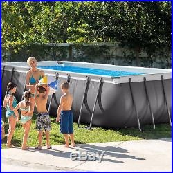 Intex 18' x 9' x 52 Ultra Frame Rectangular Above Ground Pool with Pump & Ladder