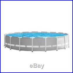 Intex 18ft X 48 Prism Frame Above Ground Swimming Pool Set Pump + Ladder + Cover