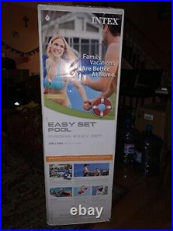 Intex 18ft X 48in Easy Set Pool Set with Filter Pump, Ladder, Ground Cloth NEW
