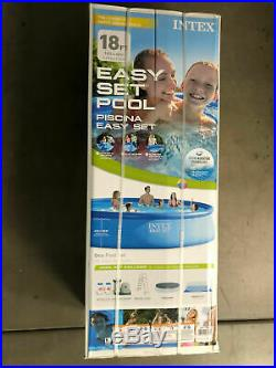 Intex 18ft X 48in Easy Set Pool With Filter Pump Ladder & Cover FAST SHIPPING