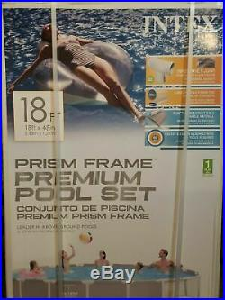 Intex 18ft X 48in Prism Frame Pool with Filter Pump Ladder And Cover FREE SHIP