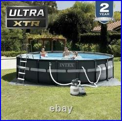 Intex 18ft X 52in Ultra XTR Pool Set with Sand Filter Pump, Ladder, Cover & Cloth