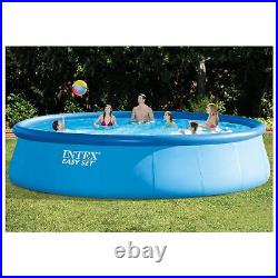 Intex 18ft x 48in Easy Set Above Ground Swimming Pool with Ladder & Pump (2 Pack)