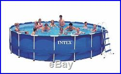 Intex 18ft x 48in Frame Above Ground Pool with Pump, Ladder, Cover, & Cleaning Kit