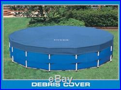 Intex 18ft x 48in Metal Frame Above Ground Round Family Swimming Pool Set & Pump