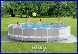 Intex 18ft x 48in Prism Frame Above Ground Swimming Pool Set with Pump
