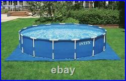 Intex 18ft x 48in Prism Metal Frame Above Ground Swimming Pool with Pump