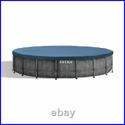 Intex 18ft x 48in Prism Steel Frame Pool Set with Cover, Ladder, Pump (Open Box)