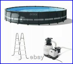 Intex 20Ft x 48In Ultra XTR Frame Round Above Ground Swimming Pool Set with Pump