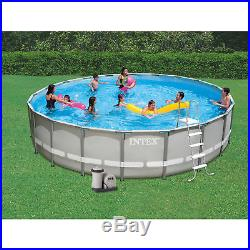 Intex 20' x 48 Ultra Frame Above Ground Swimming Pool Set with Pump and Ladder