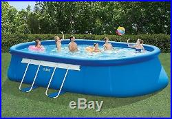 Intex 20ft X 12ft X 48in Oval Frame Pool Set with Filter Pump, Ladder, Ground Cl