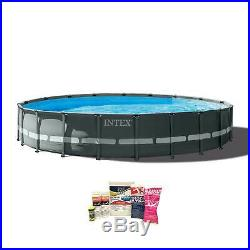Intex 20ft x 48in Ultra XTR Round Pool, Pump, Ladder, & Chemical Cleaning Kit