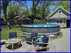 Intex 20ft x 48in Ultra XTR Round Pool, Pump, Ladder, & skim net and chlorine
