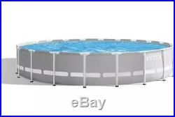Intex 20ft x 52in Prism Frame Above Ground Pool + Filter Pump Ladder Cover, Etc