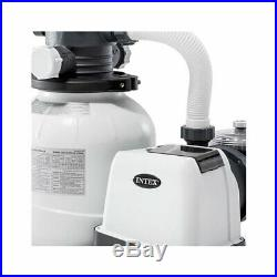 Intex 2100 GPH Above Ground Pool Sand Filter Pump with Automatic Pool Vacuum