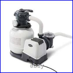 Intex 2100 GPH Above Ground Pool Sand Filter Pump with Automatic Timer (Brown Box)