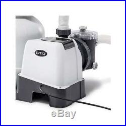 Intex 2100 GPH Above Ground Pool Sand Filter Pump with Automatic Timer(Open Box)