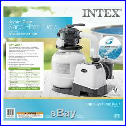 Intex 2100 GPH Above Ground Pool Sand Filter Pump with Deluxe Pool Maintenance Kit