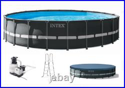 Intex 22Ft x 52In Ultra XTR Frame Round Above Ground Pool Set withLadder & Pump