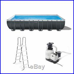 Intex 24Ft x 52In Ultra XTR Rectangular Frame Swimming Pool Set with Pump