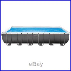 Intex 24 x 12 x 4.3 Foot Ultra Frame Above Ground Swimming Pool Set with Sand Pump