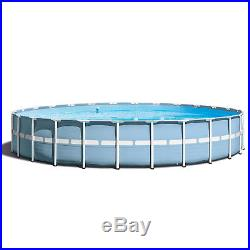 Intex 24'x 52 Prism Frame Above Ground Swimming Pool with Ladder & Filter Pump