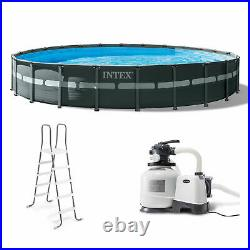 Intex 24' x 52 Round Ultra XTR Frame Pool Set with Filter Pump (For Parts)