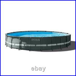 Intex 24ft x 52in Ultra XTR Round Frame Pool, Loungers (2 Pack), Floating Cooler