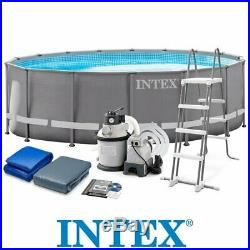 Intex 26324NP pool ultra frame 488x122 cm round rounded with frame pump filt
