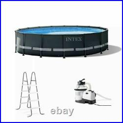 Intex 26325EH 16Ft x 48In Ultra XTR Frame Above Ground Swimming Pool Set with Pump