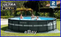 Intex 26329EH 18' x 52 Round Ultra XTR Frame Pool with Sand Filter Pump & Ladder