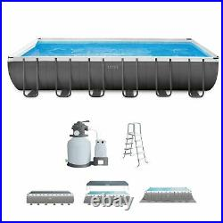 Intex 26363EH 24' x 12' x 52 Rectangular Ultra XTR Frame Swimming Pool with Pump