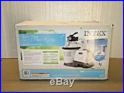 Intex 26643EG 1200 GPH Above Ground Pool Sand Filter Pump with Automatic Timer