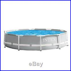 Intex 26701EH 10ft x 30in Prism Metal Frame Above Ground Swimming Pool with Pump