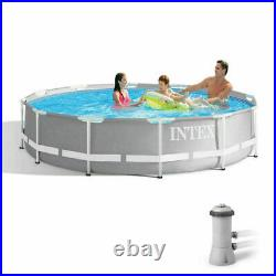 Intex 26711EH 12ft x 30in Prism Metal Frame Above Ground Swimming Pool with Pump