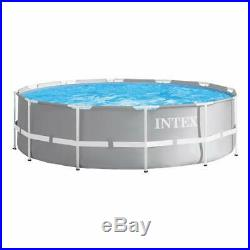Intex 26716 Pool Prism Frame Rounded cm 366x99 H with Frame Pump Filter and S