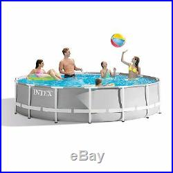 Intex 26719EH 14ft x 42in Prism Metal Frame Above Ground Swimming Pool with Pump