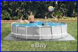Intex 26723EH 15ft x 42in Prism Frame Swimming Pool with Pump + Ladder + Cover NEW