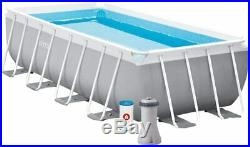 Intex 26788 Pool with Frame Line Prism Frame cm 400x200x100 Pump Filter And