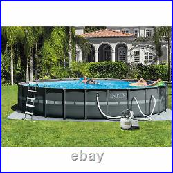 Intex 26' x 52 Ultra Frame Above Ground Pool Set with Pump and Ladder (For Parts)