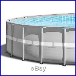 Intex 26' x 52 Ultra Frame Above Ground Swimming Pool Set with Pump & Ladder